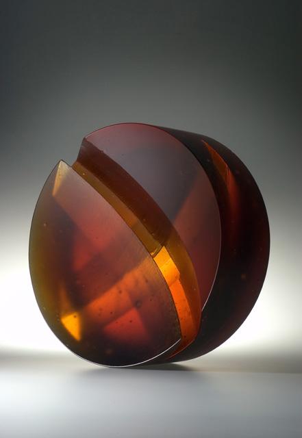 glass art Sunset-back 2004