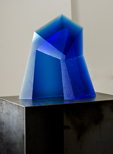 glass art Blue well
