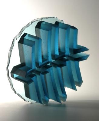 glass art Aquamarine structure